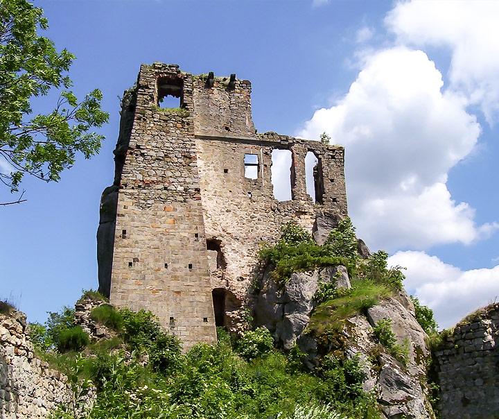Ruiny Zamku Kamieniec w Odrzykoniu na Podkarpaciu
